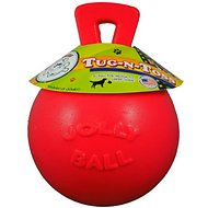 Jolly Pets Tug-n-Toss Dog Toy, Red, 6-inch