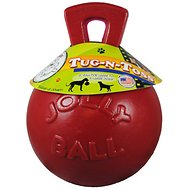 Jolly Pets Tug-n-Toss Dog Toy, Red, 8-inch