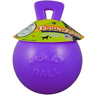 Jolly Pets Tug-n-Toss Dog Toy, Purple, 6-inch