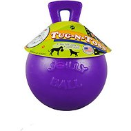 Jolly Pets Tug-n-Toss Dog Toy, Purple, 8-inch