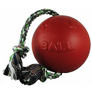 Jolly Pets Romp-n-Roll Dog Toy, Red, 8-inch