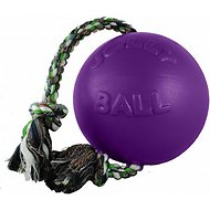 Jolly Pets Romp-n-Roll Dog Toy, Purple, 8-inch