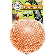 Jolly Pets Bounce-n-Play Dog Toy, Orange, 4.5-inch
