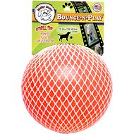 Jolly Pets Bounce-n-Play Dog Toy, Orange, 6-inch
