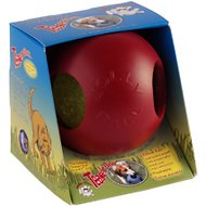 Jolly Pets Teaser Ball Dog Toy, Red, 4.5-inch