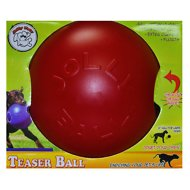 Jolly Pets Teaser Ball Dog Toy, Red, 8-inch