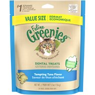Greenies Feline Tempting Tuna Flavor Dental Cat Treats, 5.5-oz bag