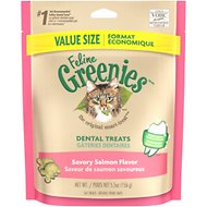 Greenies Feline Savory Salmon Flavor Dental Cat Treats, 5.5-oz bag