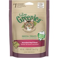 Greenies Feline Succulent Beef Flavor Dental Cat Treats, 2.5-oz bag