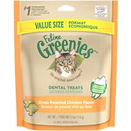 Greenies Feline Oven Roasted Chicken Flavor Dental Cat Treats, 5.5-oz bag