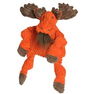 HuggleHounds Knottie Moose Dog Toy, Small