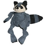 HuggleHounds Woodlands Plush Corduroy Knottie Dog Toy, Raccoon, Small