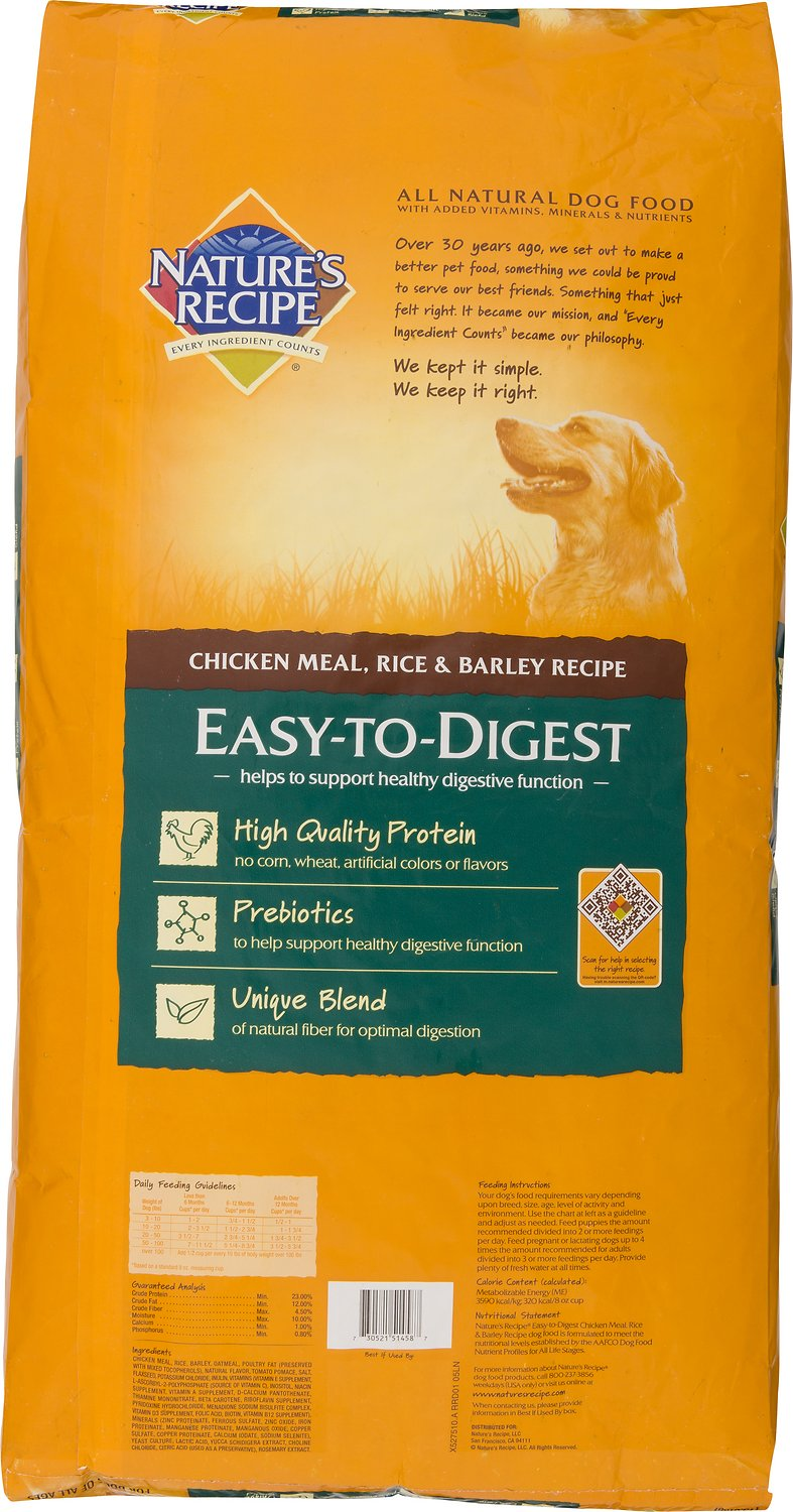 Natures recipe easy to digest chicken meal rice barley recipe video forumfinder