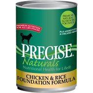 Precise Naturals Chicken & Rice Foundation Formula Canned Dog Food, 13.2-oz, case of 12