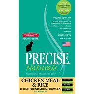 Precise Naturals Chicken Meal & Rice Foundation Formula Dry Cat Food, 15-lb bag