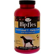 NaturVet Hip Flex Joint Level 1 Early Care with Tart Cherries Dog Tablets, 120 count