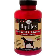 Overby Farm Hip Flex Joint Level 3 Advanced Care with Tart Cherries Dog Tablets, 40 count
