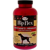 NaturVet Hip Flex Joint Level 3 Advanced Care with Tart Cherries Dog Tablets, 90 count