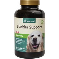 NaturVet Bladder Support Plus Cranberry Dog Tablets, 60-chewable tabs