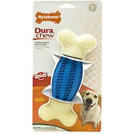 Nylabone DuraChew Double Action Dental Chew Bacon Flavor Dog Toy