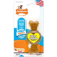 Nylabone Puppy Chew Ring Bone Chicken Flavor Dog Toy, X-Small