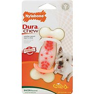 Nylabone DuraChew Action Ridges Bacon Flavor Bone Dog Toy, Small