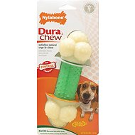 Nylabone DuraChew Double Action Chew Bacon Flavor Dog Toy, Wolf
