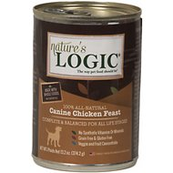 Nature's Logic Canine Chicken Feast Grain-Free Canned Dog Food, 13.2-oz, case of 12