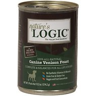 Nature's Logic Venison Feast Grain-Free Canned Dog Food, 13.2-oz, case of 12