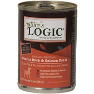 Nature's Logic Canine Duck & Salmon Feast Canned Dog Food, 13.2-oz, case of 12