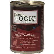 Nature's Logic Canine Beef Feast Canned Dog Food, 13.2-oz, case of 12