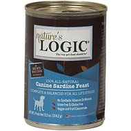 Nature's Logic Canine Sardine Feast Grain-Free Canned Dog Food, 13.2-oz, case of 12