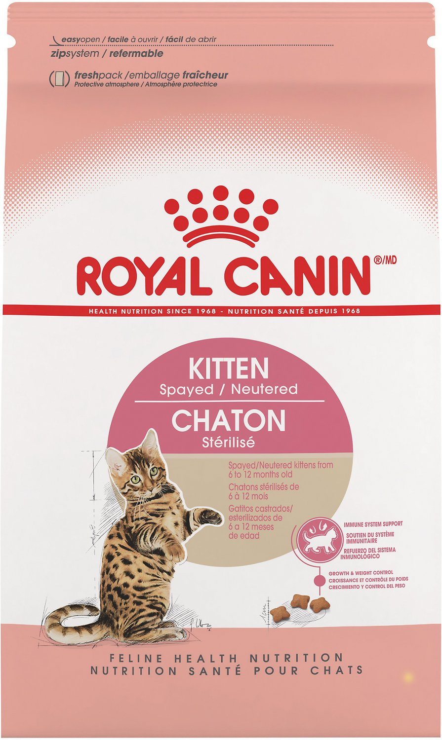 Royal Canin Puppy Food >> Royal Canin Kitten Spayed/Neutered Dry Cat Food, 2.5-lb bag - Chewy.com