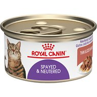 Royal Canin Spayed/Neutered Thin Slices in Gravy Canned Cat Food, 3-oz, case of 24