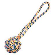 Zanies Monkey's Fist Knot Rope Dog Toy, 17-inch