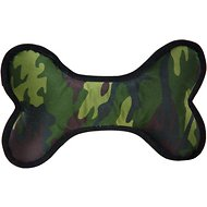 Zanies Camo Toughstructable Bone Dog Toy, Green, Small
