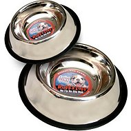 Loving Pets Stainless Steel No Tip Pet Bowl, 16-oz bowl