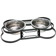 Loving Pets Wrought Iron Elevated Pet Bowls, 64-oz bowl