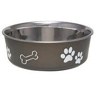 Loving Pets Bella Bowls Pet Bowl, Espresso, Large