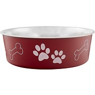 Loving Pets Bella Bowls Pet Bowl, Merlot, X-Large