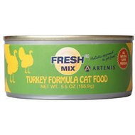 Artemis Fresh Mix Turkey Formula Canned Cat Food, 5.5-oz, case of 24