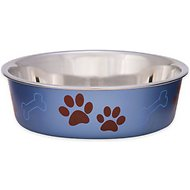 Loving Pets Bella Bowls Pet Bowl, Metallic Blueberry, Large