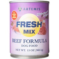 Artemis Fresh Mix Beef Formula Canned Dog Food, 13-oz, case of 12