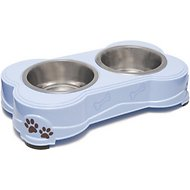 Loving Pets Dolce Double Diner Pet Dish, Murano, 14-oz bowl