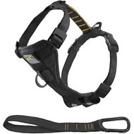 Kurgo Tru-Fit Smart Harness with Plastic Quick Release Buckles, Black, Medium