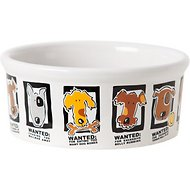 Signature Housewares Mug Shots Dog Bowl, Large