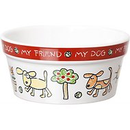 Signature Housewares Color Me Happy Dog Bowl, X-Small