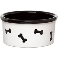 Signature Housewares Bones Dog Bowl, White, X-Small