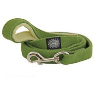 Planet Dog Hemp Dog Leash with Fleece-Lined Handle, Apple Green, Small
