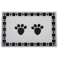 PetRageous Designs Pet Paws Placemat, Black, Regular